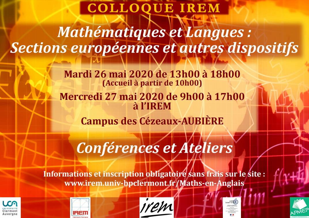 affiche colloque IREM mai 2020